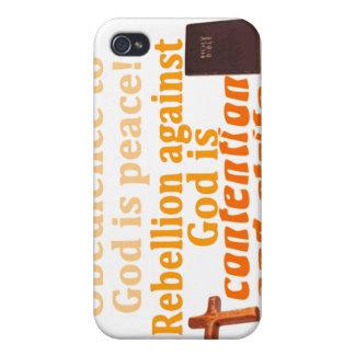 La obediencia a dios es paz iPhone 4 fundas