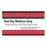 La obediencia del perro clasifica tarjetas de visi