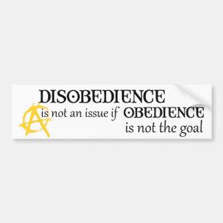 La obediencia no es la meta pegatina para auto