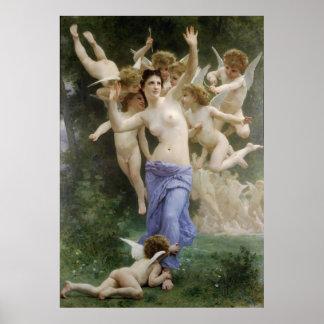 La obra clásica 1892 de Bouguereau que pinta la je Posters