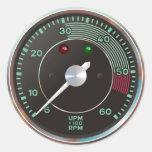 La obra clásica 356 rev al revés, coche de pegatina redonda