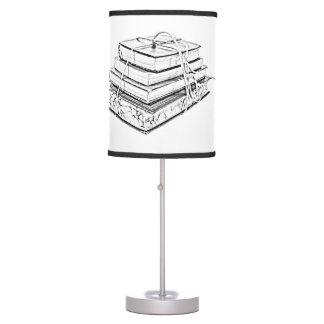 La obra clásica atada reserva bosquejo literario d lámpara de mesa