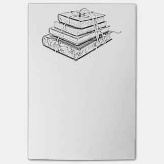 La obra clásica atada reserva bosquejo literario d nota post-it