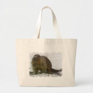 La obra clásica Beavers el bolso de la lona Bolsa Tela Grande
