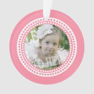 La obra clásica puntea rosa de la foto del bebé
