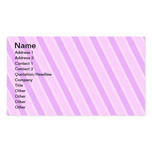 La obra clásica raya fondos femeninos del caramelo tarjetas de visita