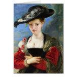 La obra maestra de Peter Paul Rubens del gorra de  Felicitaciones