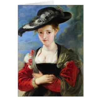 La obra maestra de Peter Paul Rubens del gorra de Tarjeta Pequeña