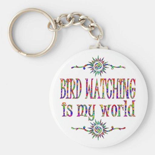 La observación de pájaros es mi mundo llavero