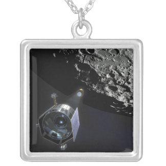 La observación del cráter lunar colgante cuadrado