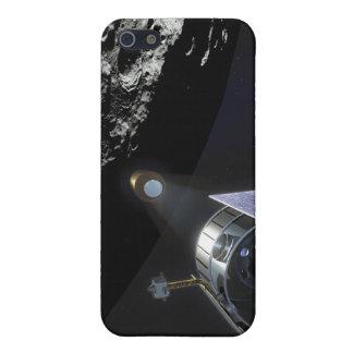 La observación del cráter lunar iPhone 5 fundas