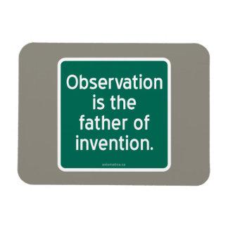 La observación es el padre de la invención imanes