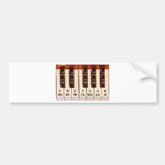 La octava del piano HACE CON REFERENCIA al MI Etiqueta De Parachoque