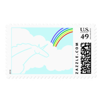 La oda a los unicornios de los años 70 y los arco sello postal
