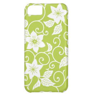 La oferta tira la caja floral verde del iPhone 5