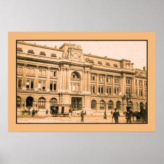 La oficina de correos de Bruselas, horsecar Posters