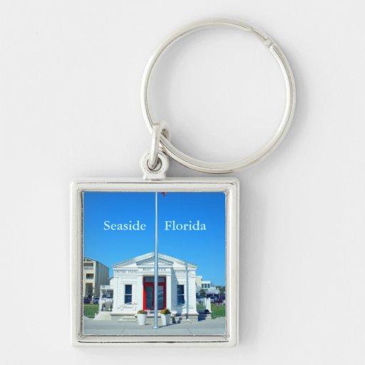 La oficina de correos de la Florida de la playa Llavero Personalizado