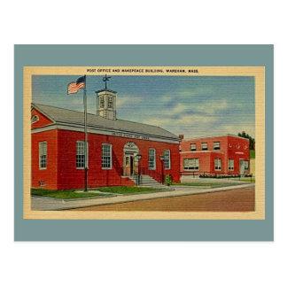 La oficina de correos del vintage, edificio de postales