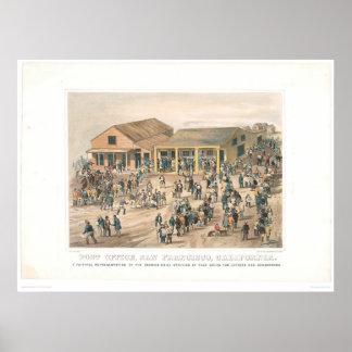 La oficina de correos en San Francisco (1361A) Posters
