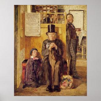 La oficina del abogado, 1857 póster