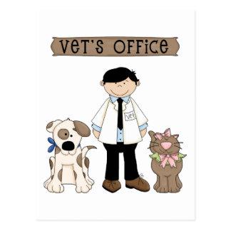La oficina del veterinario tarjetas postales