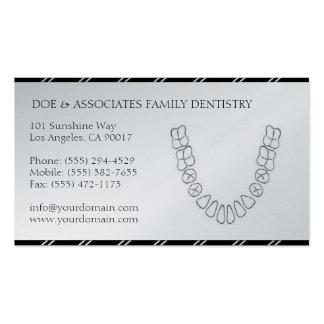 La oficina dental del DDS del dentista raya el pap Plantilla De Tarjeta De Visita