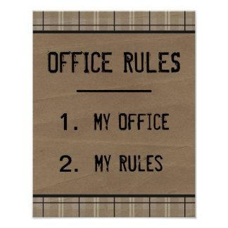 La oficina divertida gobierna el poster