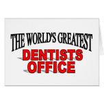 La oficina más grande de los dentistas del mundo tarjetón