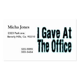La oficina tarjetas de visita