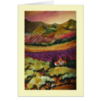 """La Olivas & Tuscan Glow"" Card"