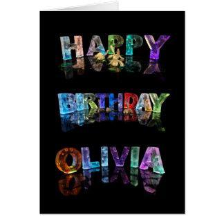 La Olivia conocida en 3D se enciende (la Tarjeta De Felicitación