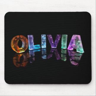 La Olivia conocida en las luces 3D (fotografía) Tapetes De Raton