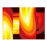 La onda - arte abstracto del arte moderno tarjetas postales