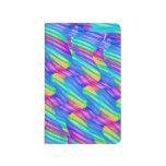 La onda colorida del arco iris de la turquesa tuer cuaderno