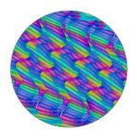 La onda colorida del arco iris de la turquesa tuer fichas de póquer