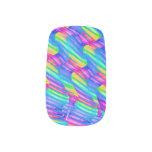 La onda colorida del arco iris de la turquesa tuer stickers para manicura