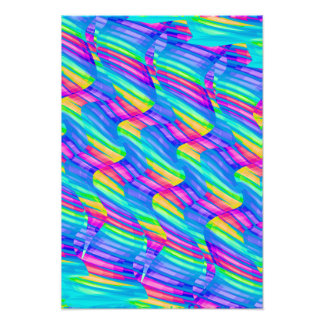 La onda colorida del arco iris de la turquesa tuer impresiones fotográficas