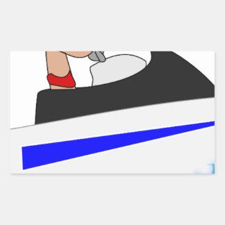 la onda de agua de las vacaciones de los deportes pegatina rectangular