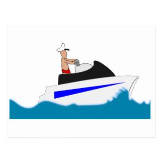 la onda de agua de las vacaciones de los deportes tarjeta postal