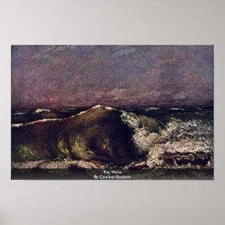 La onda de Courbet Gustavo Póster