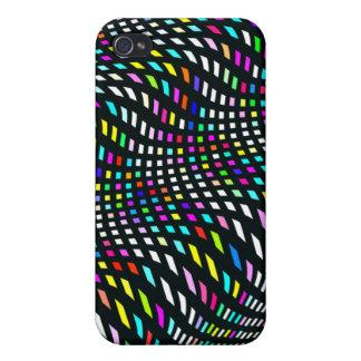 La onda del arco iris alinea la caja de la mota iPhone 4 cobertura