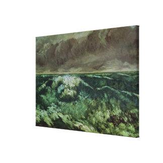 La onda, después de 1870 impresión en lienzo