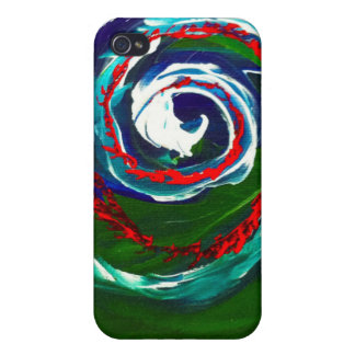 La onda espiral del infinito iPhone 4/4S fundas