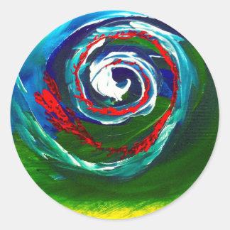 La onda espiral del infinito pegatina redonda