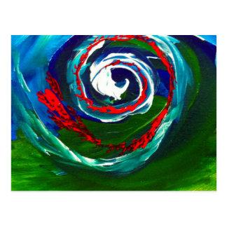 La onda espiral del infinito postales