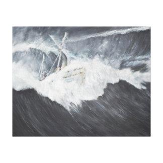 La onda gigantesca impresión en lienzo