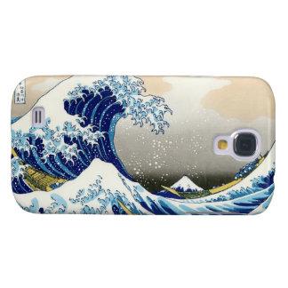 La onda grande de Kanagawa Hokusai Katsushika Japó Funda Para Galaxy S4