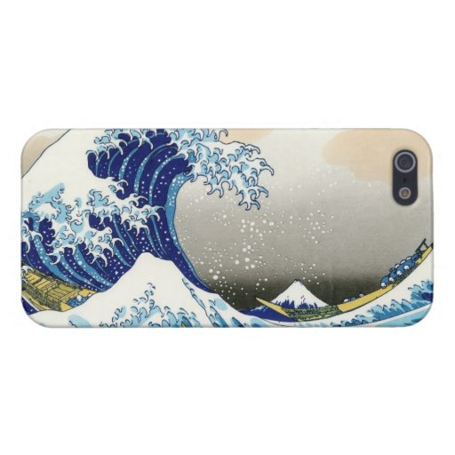 La onda grande de Kanagawa Katsushika Hokusa iPhone 5 Funda