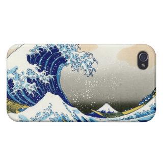 La onda grande de Kanagawa Katsushika Hokusa iPhone 4 Fundas