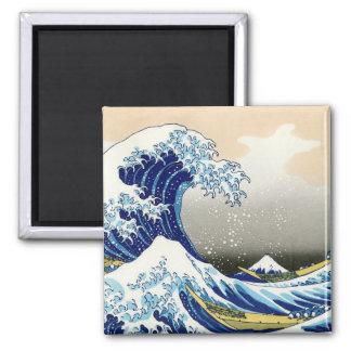 La onda grande de Kanagawa Katsushika Hokusai Imán Cuadrado